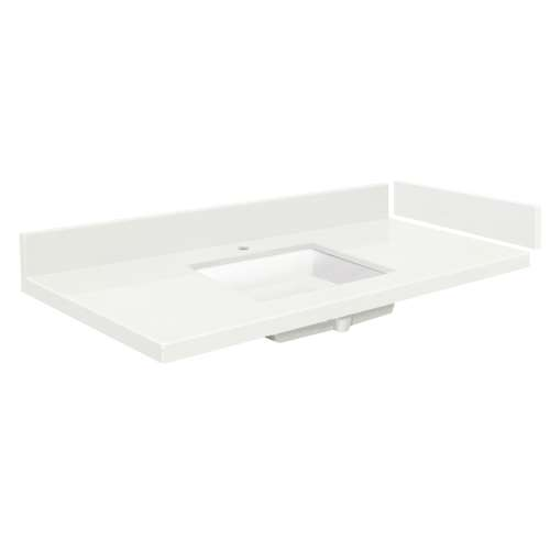 48.5 in. Quartz Vanity Top in Natural White with Single Hole