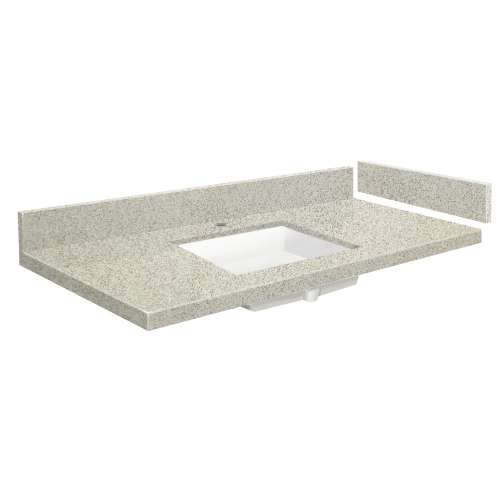 49.25 in. Quartz Vanity Top in Portage Pass with Single Hole
