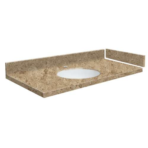 39.5 in. Solid Surface Vanity Top in Sand Mountain with Single Hole