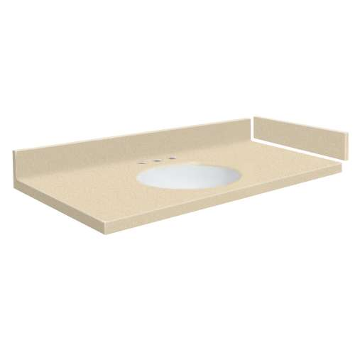 37.25 in. Solid Surface Vanity Top in Sea Shore with 8in Centerset