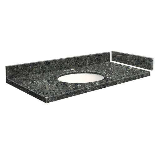 43 in. Quartz Vanity Top in Tempest with 4in Centerset