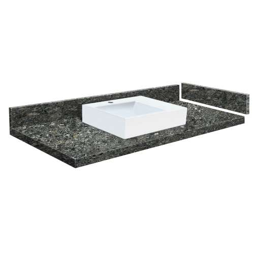 49 in. Quartz Vessel Vanity Top in Tempest with Single Hole