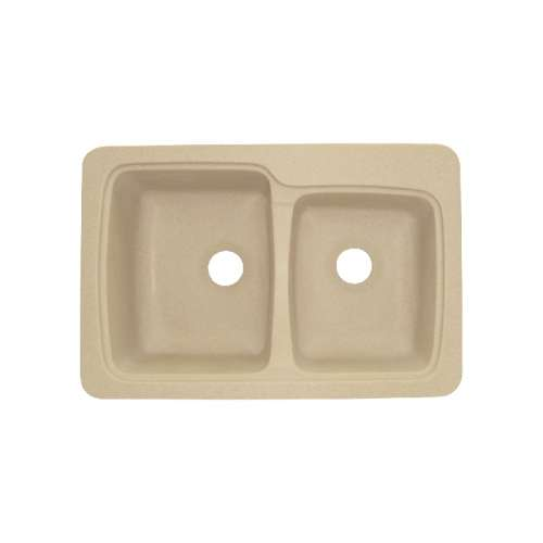 Transolid Savannah Solid Surface 33-in Drop-in Kitchen Sink