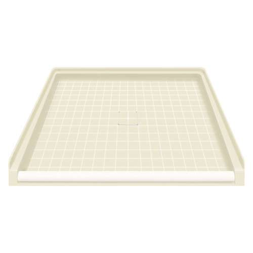 Transolid Solid Surface 39-in x 38-in Barrier Free Shower Base with Center Drain