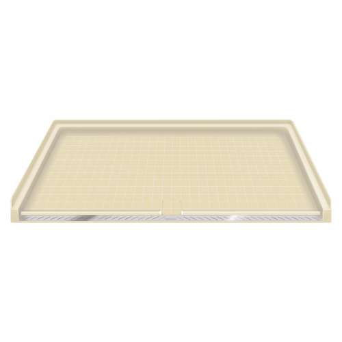 Transolid Solid Surface 63-in x 38-in Barrier Free Shower Base with Center Drain