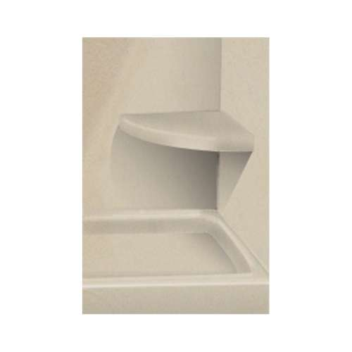 Transolid Decor 14-In X 14-In Solid Surface Wall-Mount Corner Shower Seat