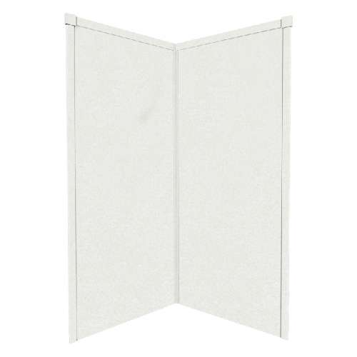 Transolid Decor Solid Surface 38-in x 72-in Corner Shower Wall Kit