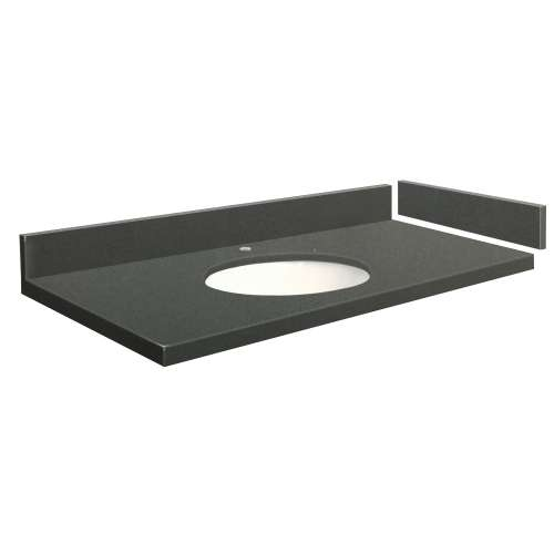 49.5 in. Quartz Vanity Top in Urban Grey with Single Hole