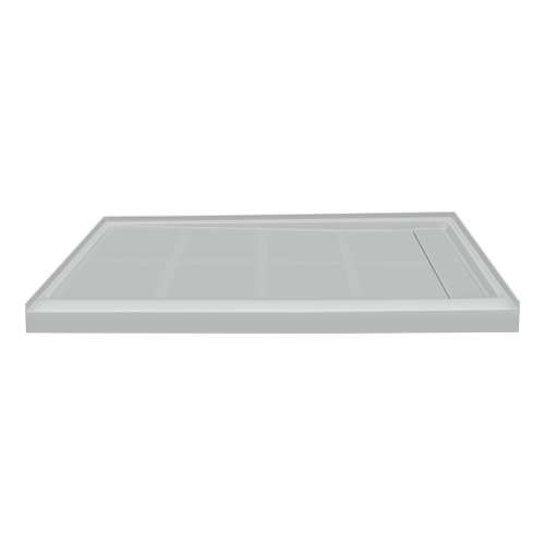 Transolid Linear 48-in x 32-in Rectangular Alcove Shower Base with Right Hand Drain