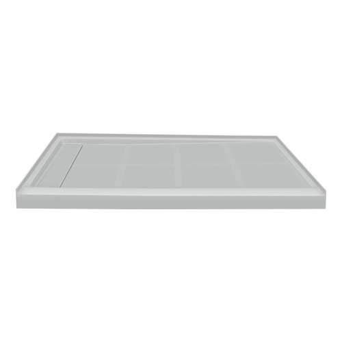 Transolid Linear 48-in x 36-in Rectangular Alcove Shower Base with Left Hand Drain