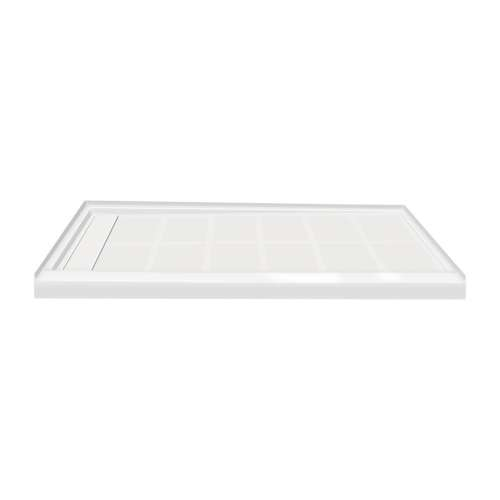 Transolid Linear 60-in x 30-in Rectangular Alcove Shower Base with Left Hand Drain