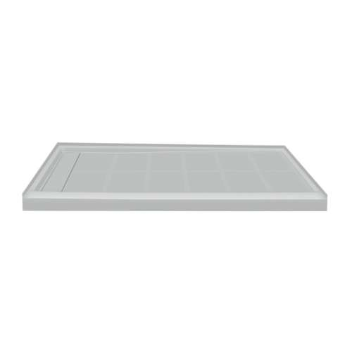 Transolid Linear 60-in x 32-in Rectangular Alcove Shower Base with Left Hand Drain
