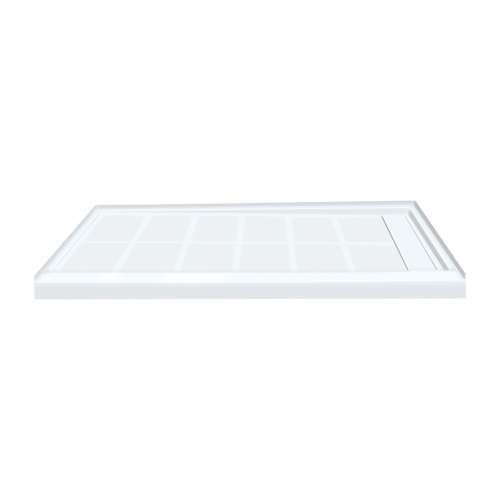 Transolid Linear 60-in x 32-in Rectangular Alcove Shower Base with Right Hand Drain