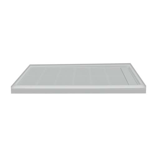 Transolid Linear 60-in x 36-in Rectangular Alcove Shower Base with Right Hand Drain
