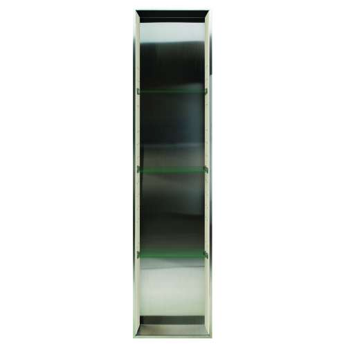 Transolid Expressions 58.5-in. Recessed Stainless Steel/Expressions Composite Material Shower Storage Pod STV15814-SS38