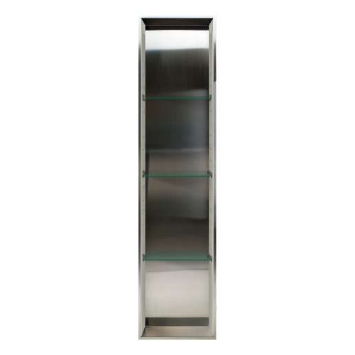 Transolid Saramar 58.5-in. Recessed Stainless Steel/SaraMar Material Shower Storage Pod STV15814-SS28