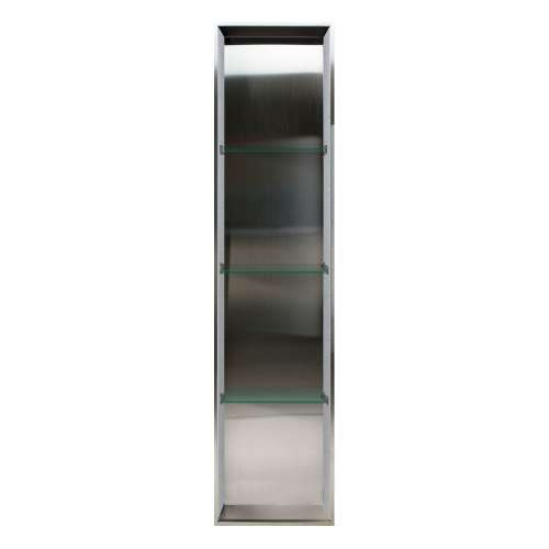 Transolid Saramar 58.5-in. Recessed Stainless Steel/SaraMar Material Shower Storage Pod STV15814-SS27