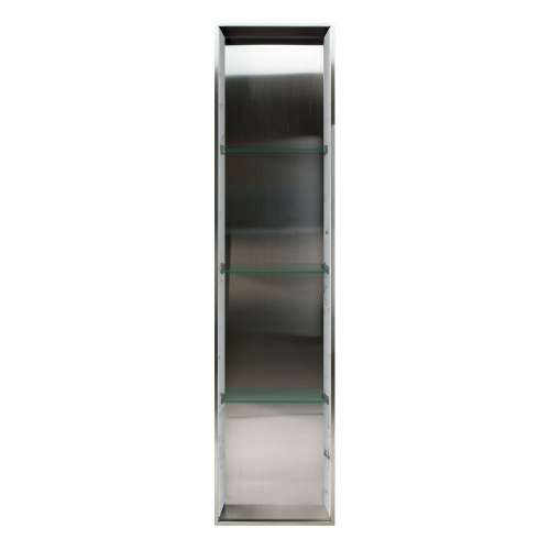 Transolid Saramar 58.5-in. Recessed Stainless Steel/SaraMar Material Shower Storage Pod STV15814-SS47