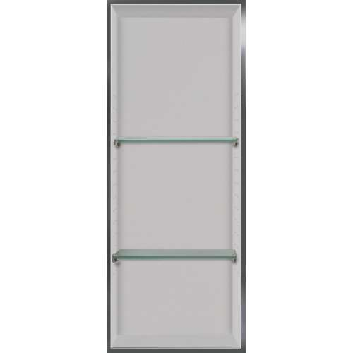 Transolid Studio 34.5-in. Recessed Solid Surface Shower Storage Pod - In Multiple Colors STV23414-SS-M2