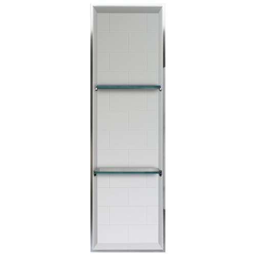 Transolid Saramar 46.5-in. Recessed SaraMar Material Shower Storage Pod - In Multiple Colors STV24614-SS-M1