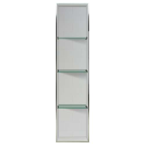 Transolid Saramar 58.5-in. Recessed SaraMar Material Shower Storage Pod - In Multiple Colors STV25814-SS-M1