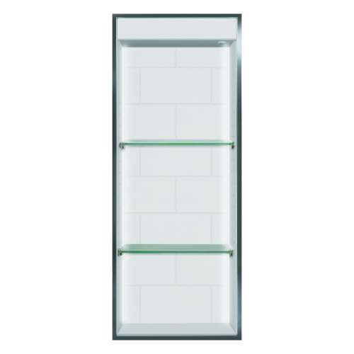 Transolid Saramar 34.5-in. Recessed SaraMar Material Shower Storage Pod - In Multiple Colors STVL3414-SS-M1