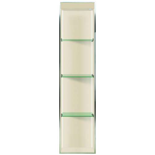 Transolid Studio 58.5-in. Recessed Solid Surface Shower Storage Pod STVL5814-SS08
